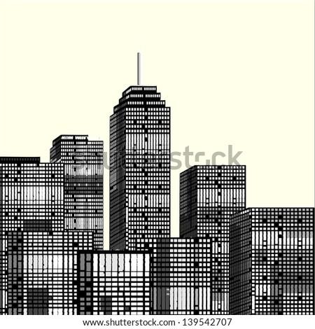 New York city, illustration - stock vector
