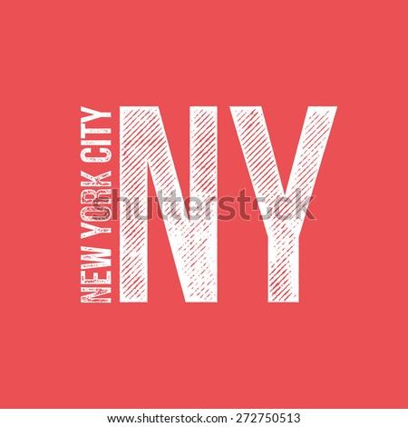 New York City Retro Vintage Dirty Label - T-shirt Design - Vector Illustration - stock vector