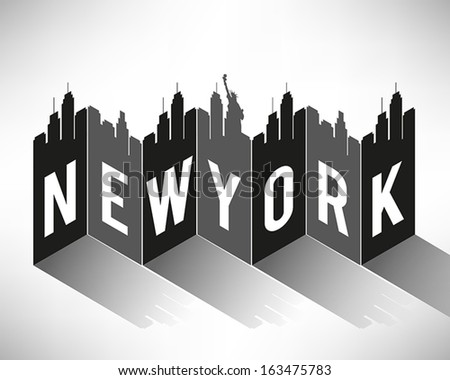 New York City Typography Design - stock vector