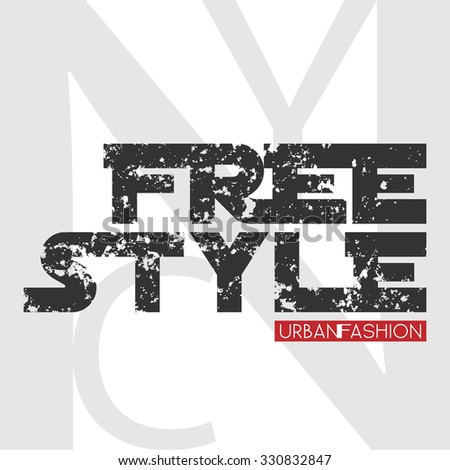 New York city Typography Graphics. Stylish printing design for sportswear apparel. NY original wear. Urban Fashion of NYC. Concept in modern style for different print production. Vector Eps10 - stock vector