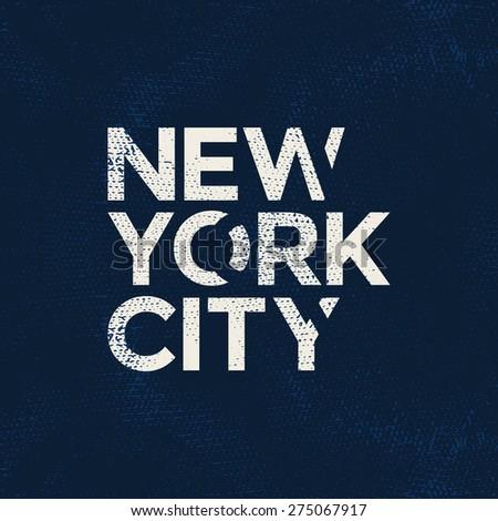 New york city typography, t-shirt graphics. Vector illustration. - stock vector