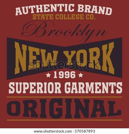 New york city typography, t-shirt graphics - vetor - stock vector
