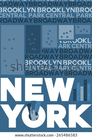 New York City - Vector Illustration, Graphic Design, Editable For Your Design  - stock vector