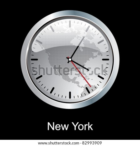 New York clock. - stock vector