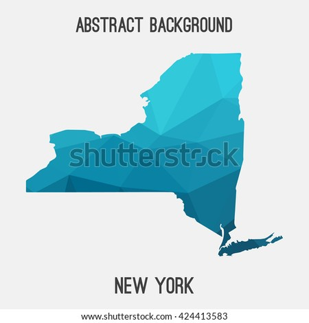 New York map in geometric polygonal style.Abstract tessellation,modern design background. Vector illustration EPS8 - stock vector