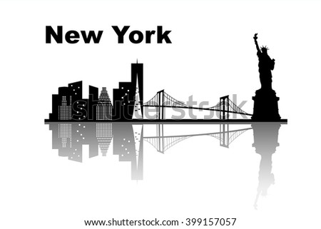 New york skyline - great for your design - stock vector