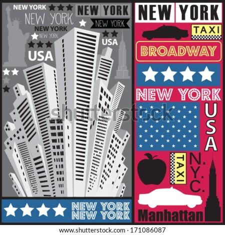 New York skyscraper vector illustration - stock vector