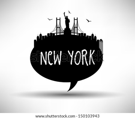 New York Speech Bubble - stock vector