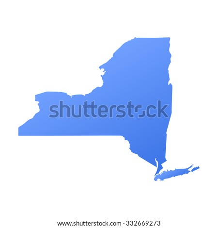 New York state border,map - stock vector
