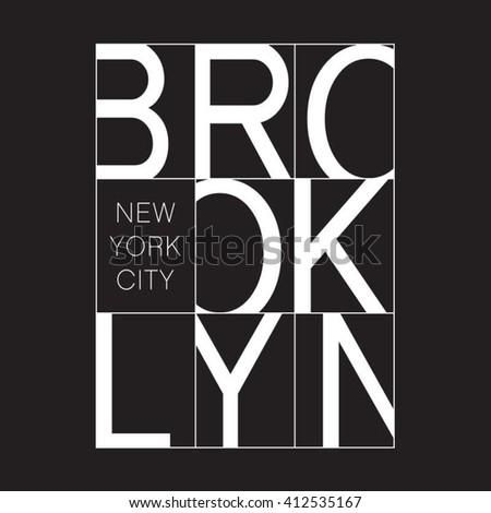 New York typography, t-shirt graphics, vectors - stock vector