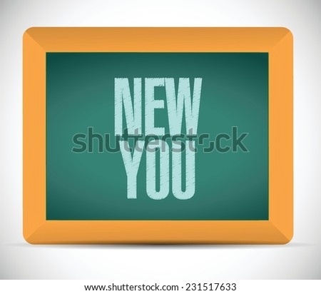 new you sign on a board illustration design over a white background - stock vector