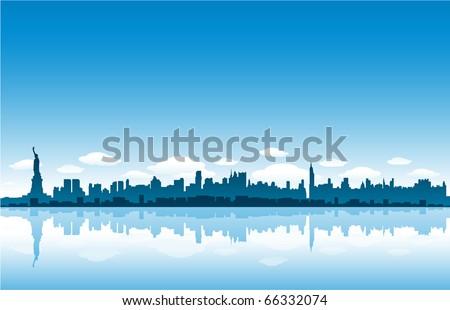 New Yrok City skyline vector illustration - stock vector
