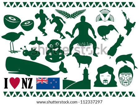 New Zealand Icon Vector - stock vector
