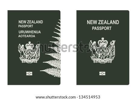 New Zealand Passport - stock vector