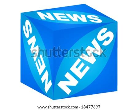 news box - stock vector
