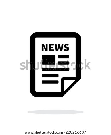 News file icon on white background. Vector illustration. - stock vector