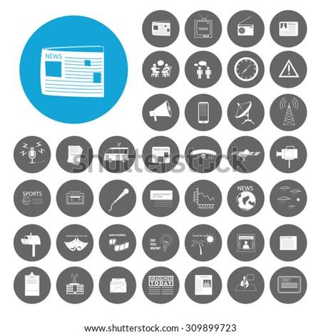 News icons set. Illustration EPS10 - stock vector