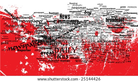 News. Life. Experience. - stock vector