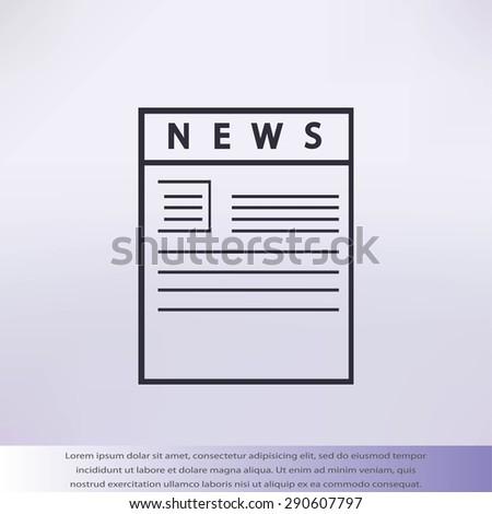 news paper - stock vector