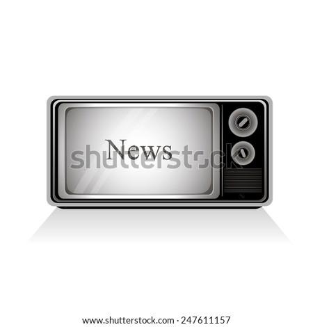 news tv - stock vector