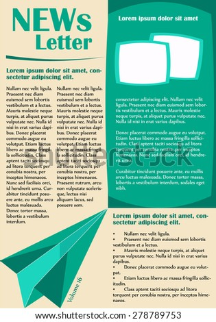 Newsletter or website page layout. Can be used in business and non-profit organizations. Vector illustration in flat style. - stock vector