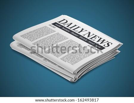 newspaper - stock vector