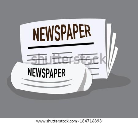 newspaper icon. concept vector illustration - stock vector