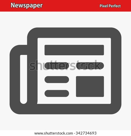 Newspaper Icon. Professional, pixel perfect icons optimized for both large and small resolutions. EPS 8 format. - stock vector