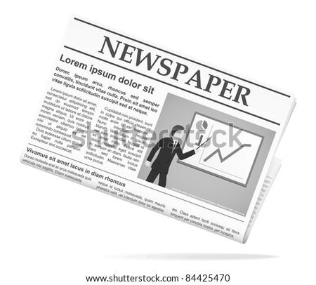 Newspaper icon. Vector illustration. - stock vector