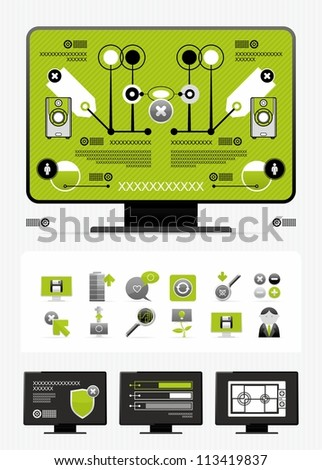 newspaper infographics - stock vector