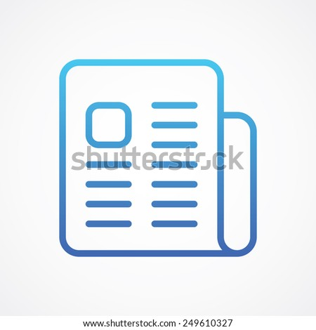 Newspaper line icon. Simple flat style vector illustration - stock vector