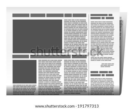 Newspaper vector - stock vector