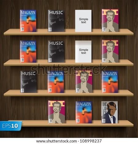 Newsstand, vector Eps10 illustration. - stock vector