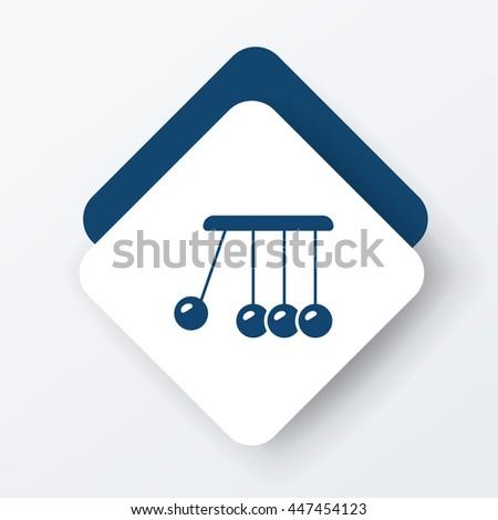 Newton cradle icon - stock vector