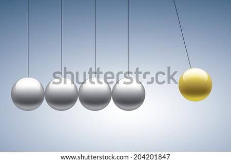 Newton's cradle - stock vector