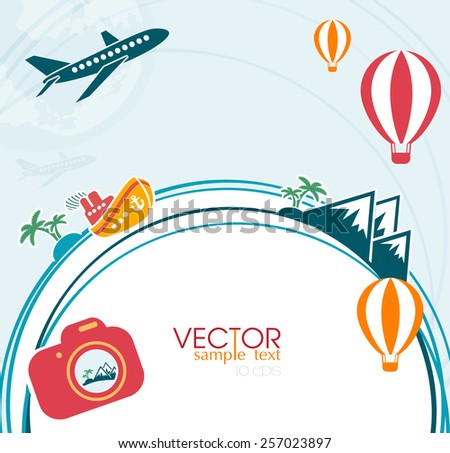 nfographics camera Travel and Vacation concept elements. - stock vector