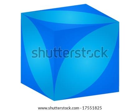 nice blue box - stock vector