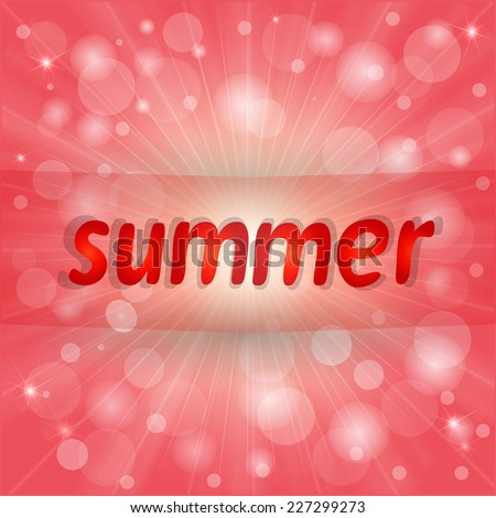 Nice bright summer  background - stock vector