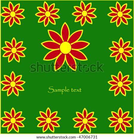 Nice flowers - stock vector