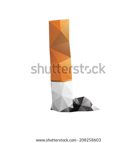 nice geometrical vector illustration, made of triangles - stock vector