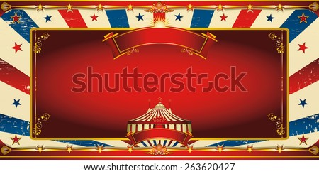 Nice vintage circus greeting card. A circus vintage greeting card for your entertainment - stock vector