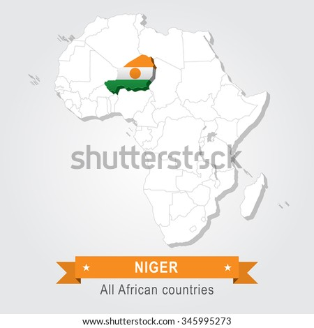 Niger. All the countries of Africa. Flag version. - stock vector