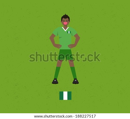 Nigeria Soccer Tables  - stock vector