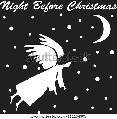 night before Christmas - stock vector