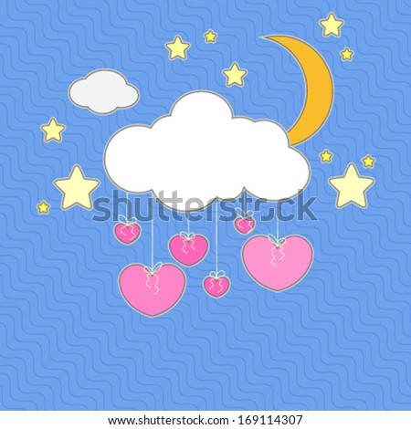 Night card - stock vector
