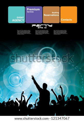 Night club. Party. Vector illustration - stock vector