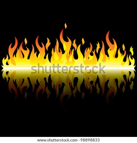 night flame - stock vector