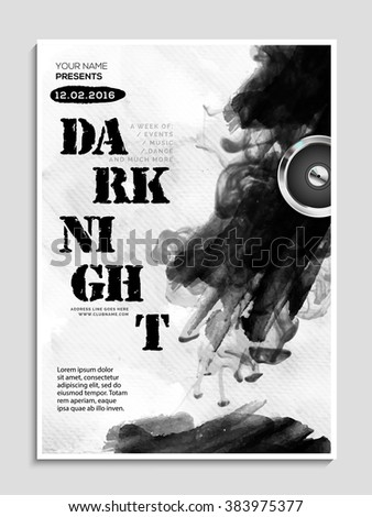 Night Party celebration Flyer, Banner or Pamphlet with abstract design. - stock vector
