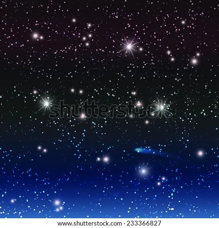 Night sky. - stock vector