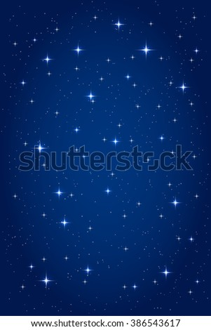 Night starry background. Vector vertical design template - stock vector
